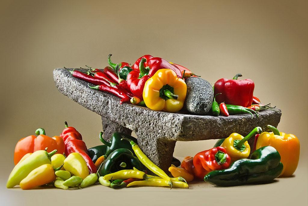 Ein Stein voller Chilis