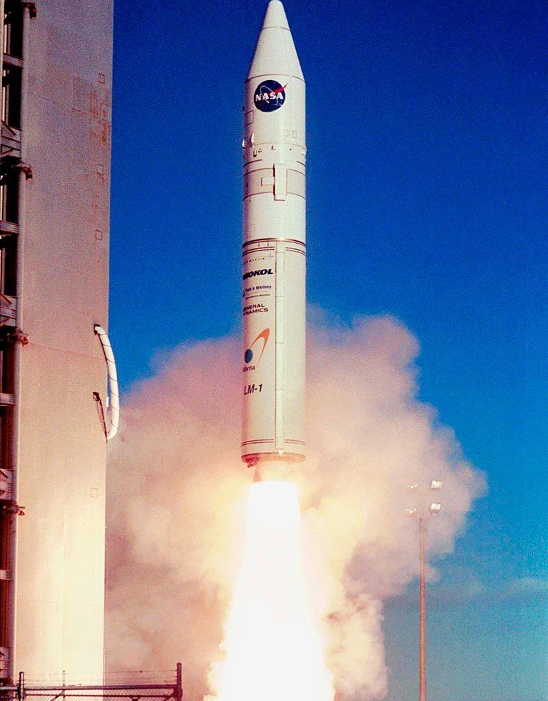 Athena Rakete startet